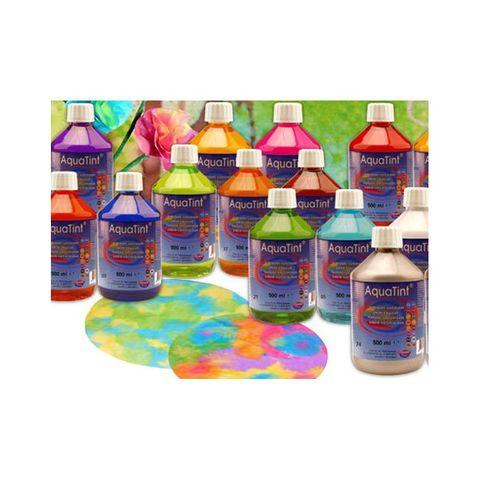 Flüssige Wasserfarbe AquaTint - Farbe silber - 250ml Flasche – Bild 2