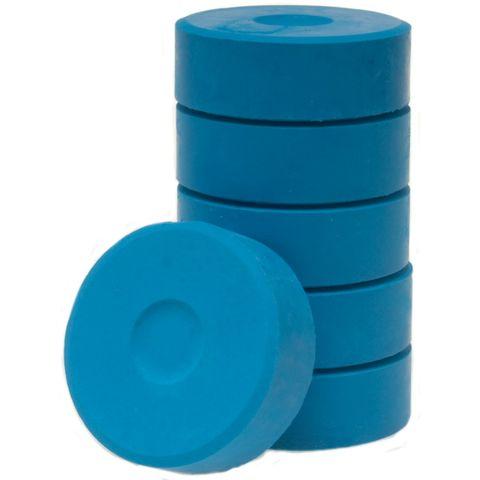 Tempera-Blöcke 44mm hellblau 6 Stück - hochwertige Tempera Farb Pucks / Farbtabletten