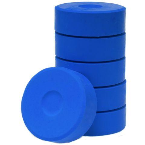 Tempera-Blöcke 44mm dunkelblau 6 Stück - hochwertige Tempera Farb Pucks / Farbtabletten