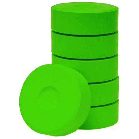 Tempera-Blöcke 44mm hellgrün 6 Stück - hochwertige Tempera Farb Pucks / Farbtabletten