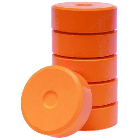 Tempera-Blöcke 44mm orange 6 Stück - hochwertige Tempera Farb Pucks / Farbtabletten