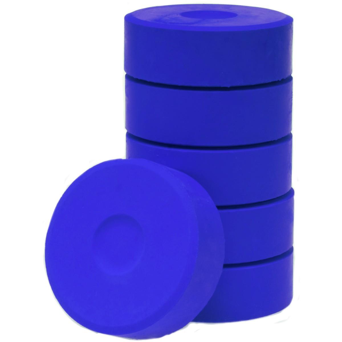 Tempera-Blöcke 44mm violett 6 Stück - hochwertige Tempera Farb Pucks / Farbtabletten