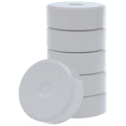 Tempera-Blöcke 44mm weiß 6 Stück - hochwertige Tempera Farb Pucks / Farbtabletten