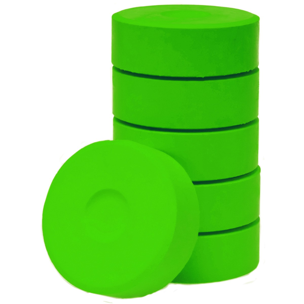 Tempera-Blöcke 55mm hellgrün 6 Stück - hochwertige Tempera Farb Pucks / Farbtabletten