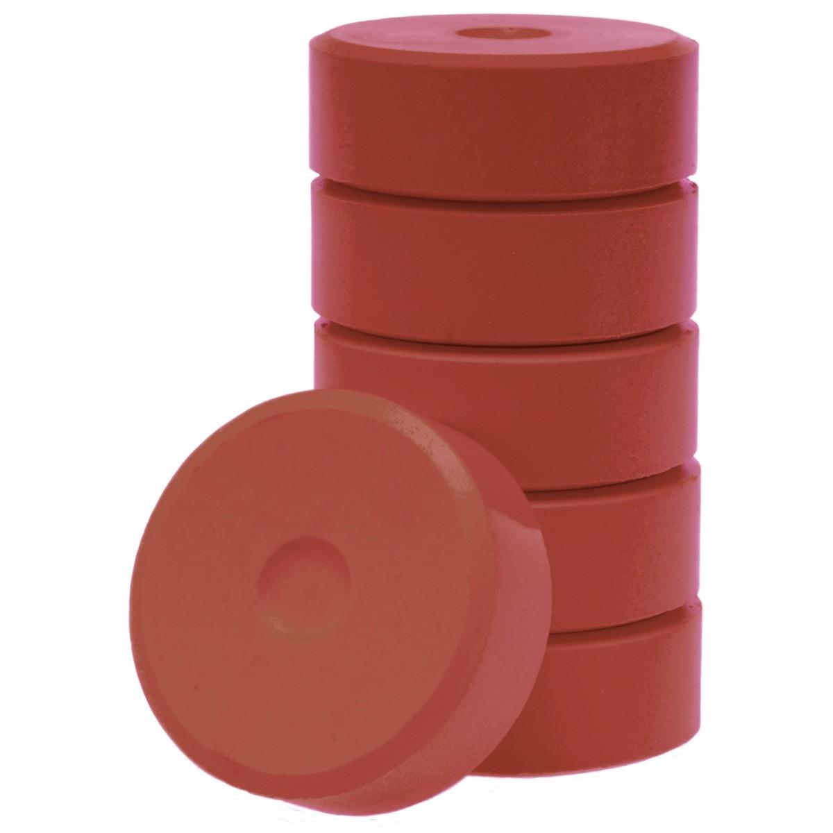 Tempera-Blöcke 55mm hellbraun 6 Stück - hochwertige Tempera Farb Pucks / Farbtabletten