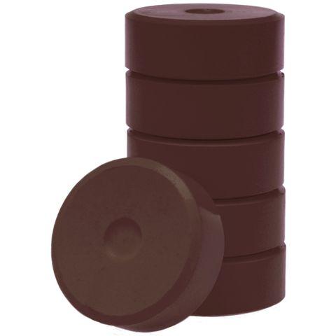 Tempera-Blöcke 55mm dunkelbraun 6 Stück - hochwertige Tempera Farb Pucks / Farbtabletten