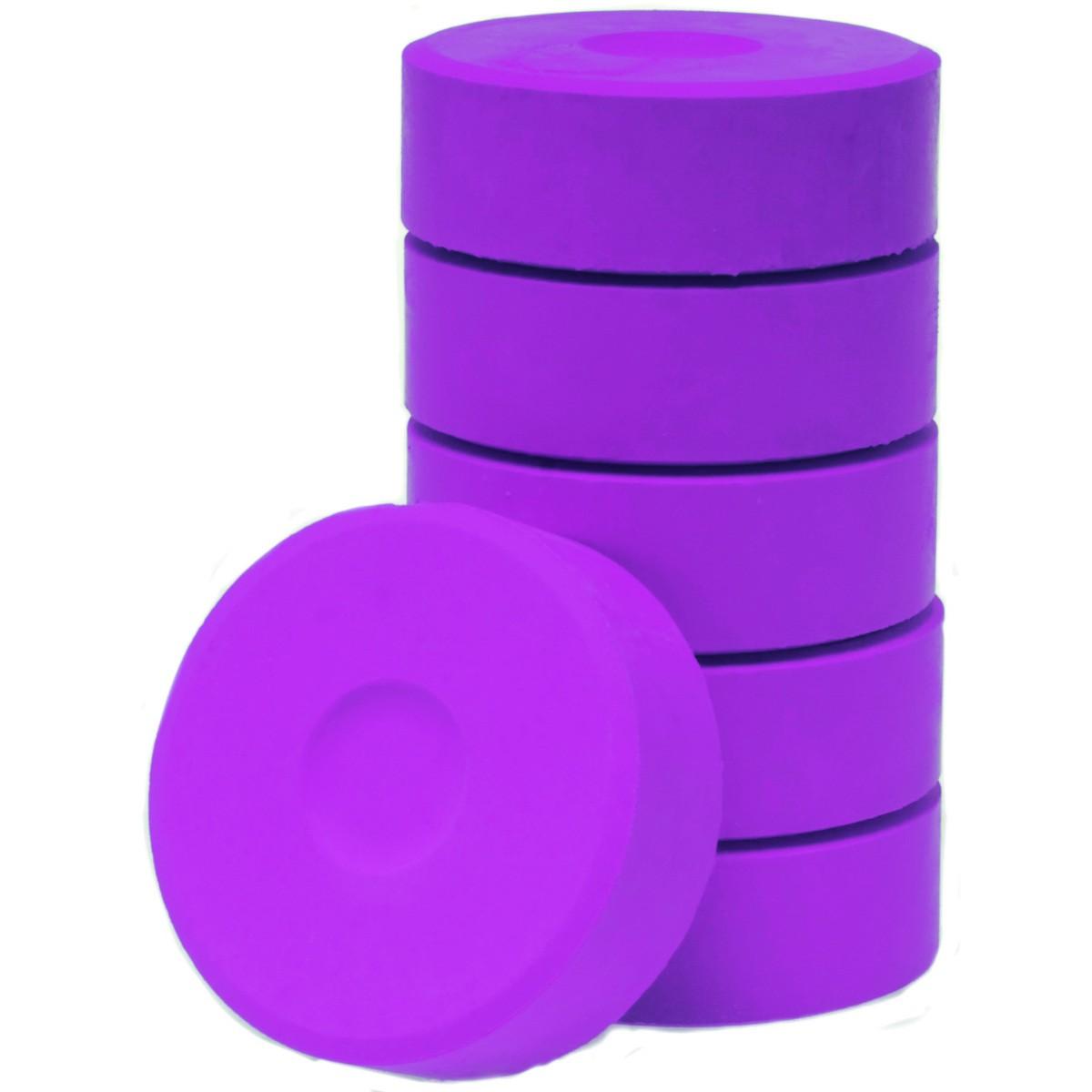 Tempera-Blöcke 55mm rosa 6 Stück - hochwertige Tempera Farb Pucks / Farbtabletten