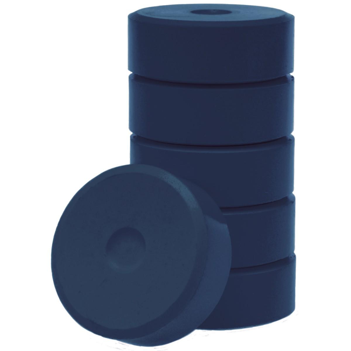 Tempera-Blöcke 55mm schwarz 6 Stück - hochwertige Tempera Farb Pucks / Farbtabletten