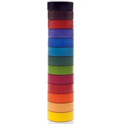 14er-Set Tempera-Blöcke 44mm - Tempera-Pucks / Farbtabletten Set mit 14 Farben