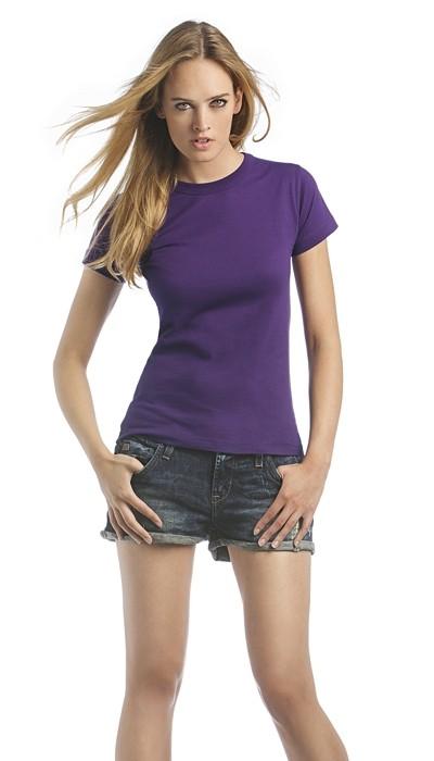 Damen T-Shirt B&C exact 190 Women, Größe M, weiß