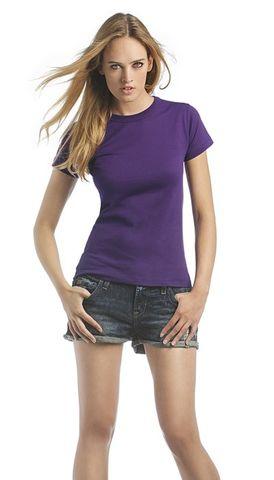 Damen T-Shirt B&C exact 190 Women, Größe L, weiß