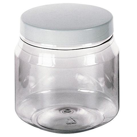 5x Kunststoffdose transparent rund, 300ml - Aufbewahrungsdosen leer PET-Plastik glasklar mit Schraubdeckel