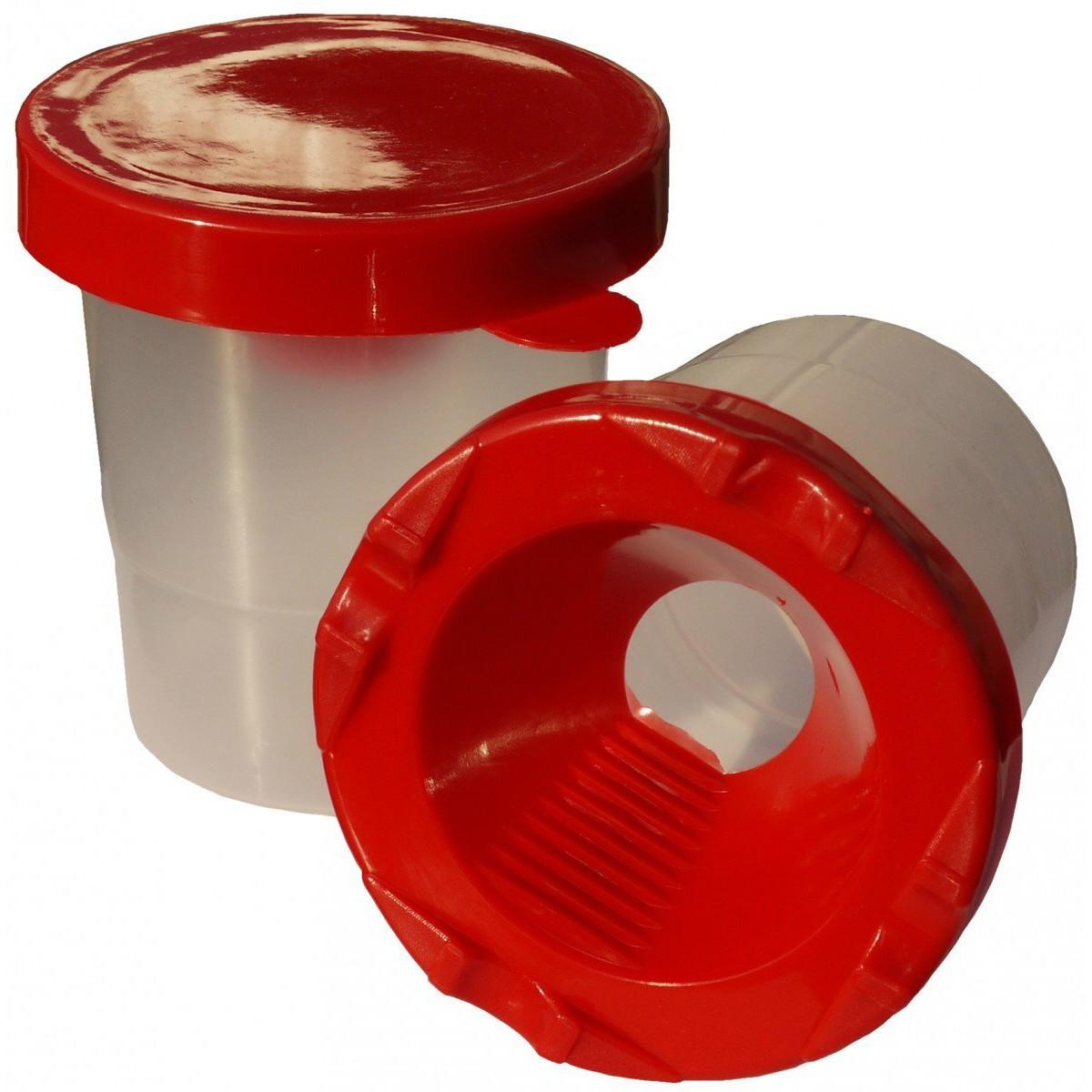 Piccolino Pinselbecher - Malbecher mit Auslaufschutz und Deckel, D8cm x H9cm
