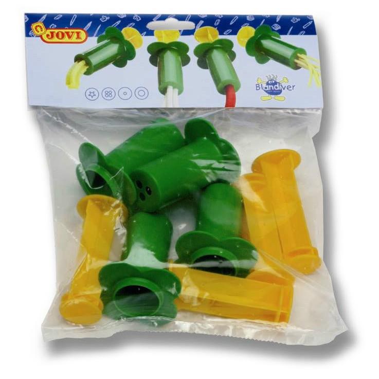 Knetspritzen für weiche Soft Knete, 4 Stück aus Kunststoff