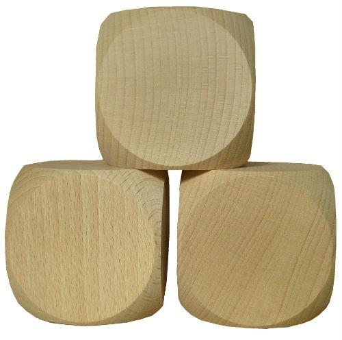 Blanko Holzwürfel Gebetswürfel Blanko-Würfel Holz unbedruckt, Buche roh, 60mm