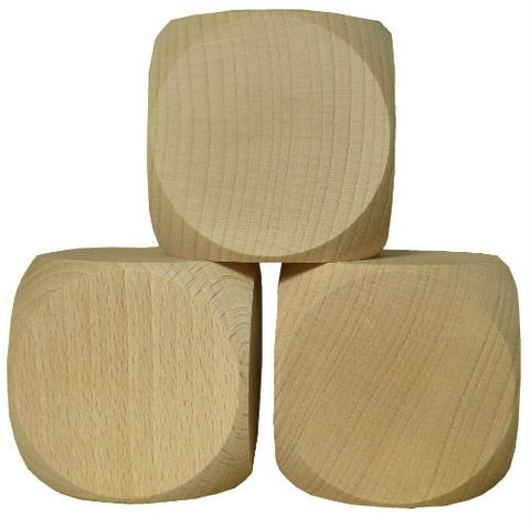 Blanko Holzwürfel Gebetswürfel Blanko-Würfel Holz unbedruckt, Buche roh, 60mm – Bild 3