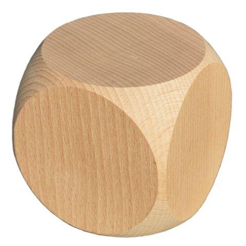 Blanko Holzwürfel Gebetswürfel Blanko-Würfel Holz unbedruckt, Buche roh, 60mm – Bild 1