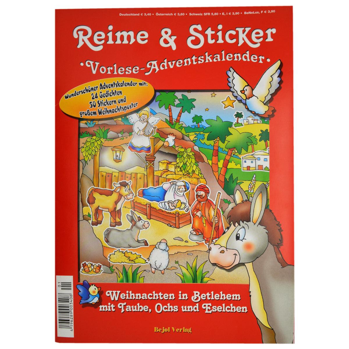 Sticker Adventskalender Für Kleinkinder Zum Vorlesen Und