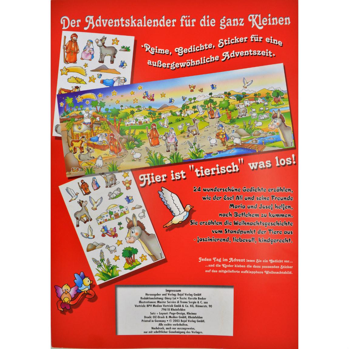 Basteln Weihnachten Kleinkind.Sticker Adventskalender Für Kleinkinder Zum Vorlesen Und Basteln