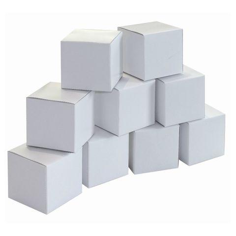 20 Blanko Geschenkschachteln Würfelboxen 6x6x6cm Karton weiß zum Bemalen
