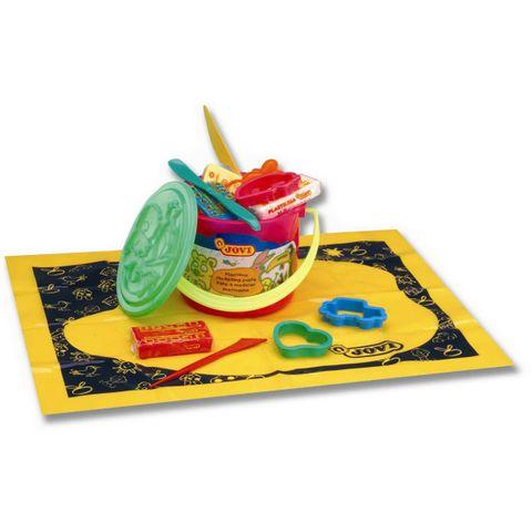JOVI Knete Set im Eimer - komplettes Sortiment zum Kneten