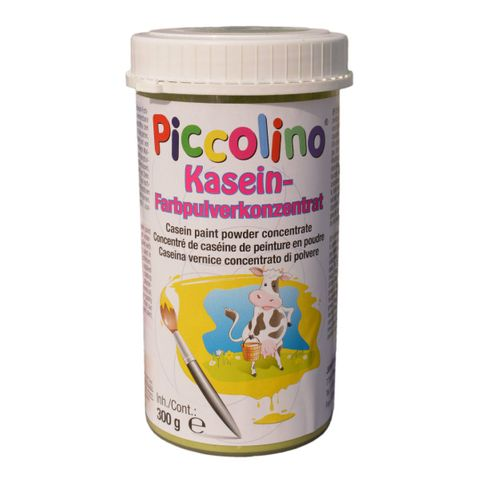 Plakatfarbe Piccolino Kaseinfarbe 300g hellblau - Farbpulver zum Selbstanrühren