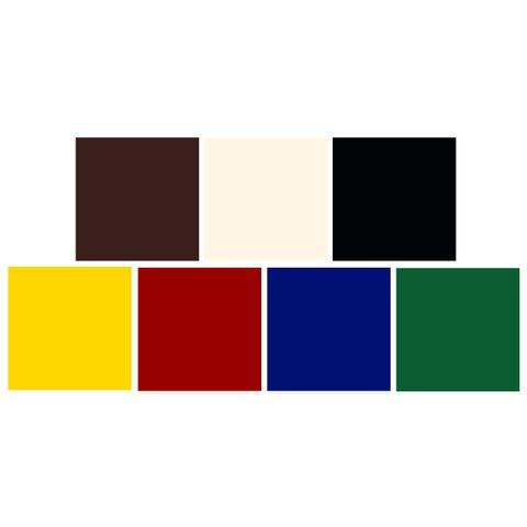 Textilfarben - PICCOLINO Stoffmalfarben Set - 7 Farben zu je 500ml – Bild 3
