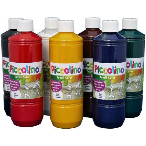 Textilfarben - PICCOLINO Stoffmalfarben Set - 7 Farben zu je 500ml – Bild 1