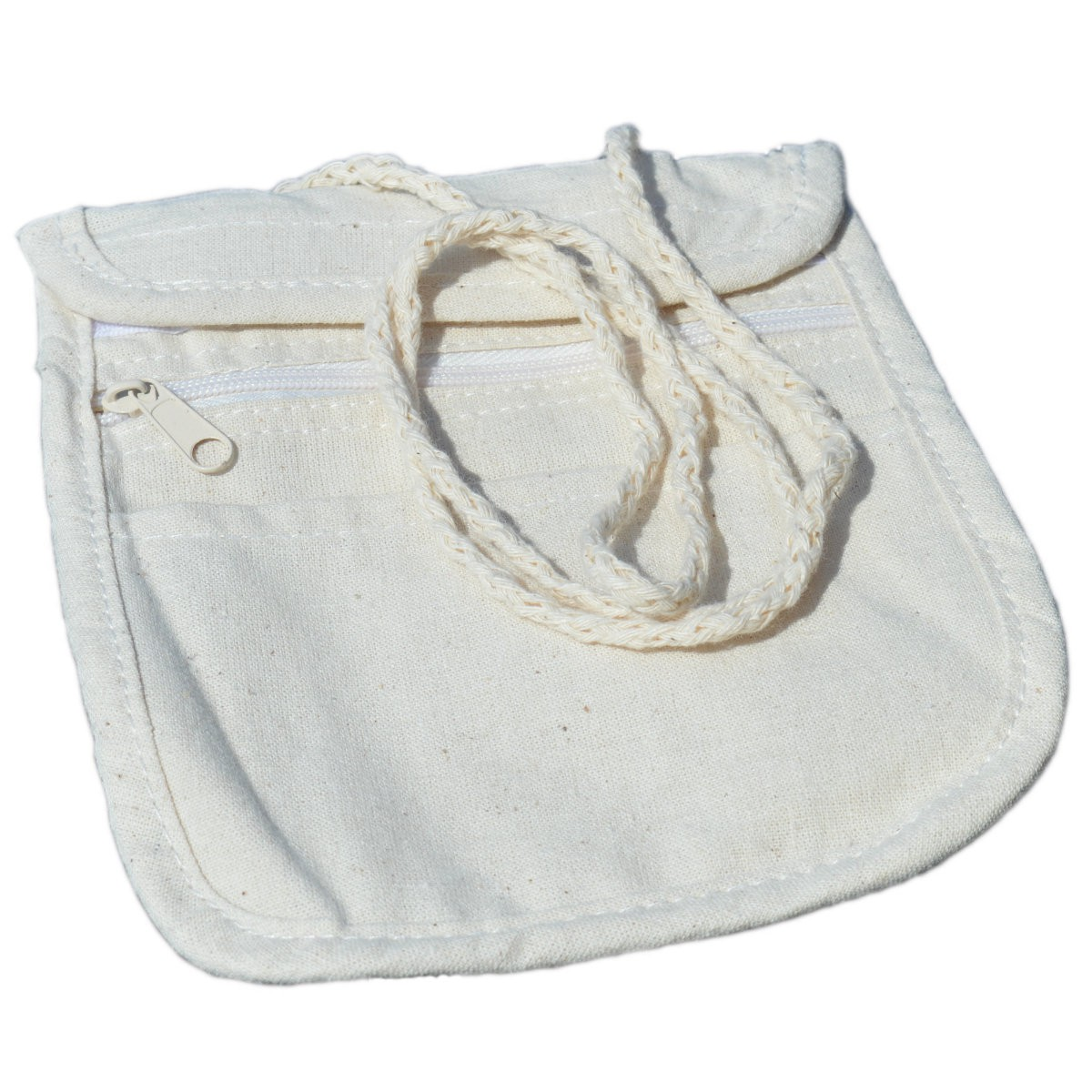 Brustbeutel Baumwolle natur, blanko zum Bemalen & Selbstgestalten 17x14cm