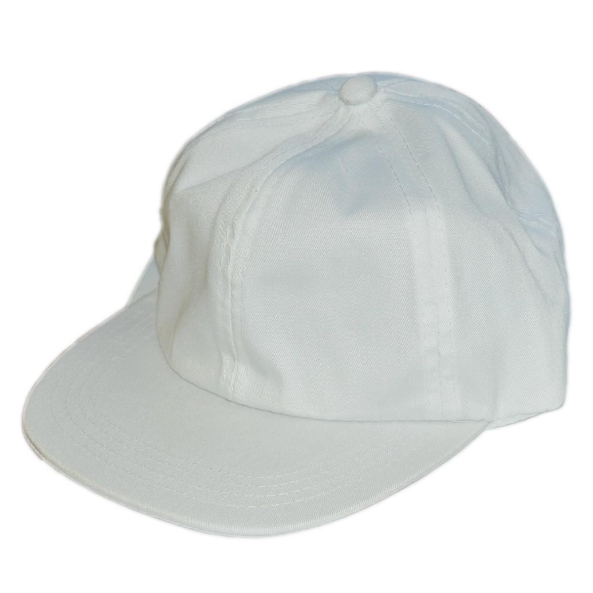 8dc30c71148b14 Baumwoll-Schirmmütze - Kinder Baseball Mütze aus Baumwolle weiß zum Bemalen