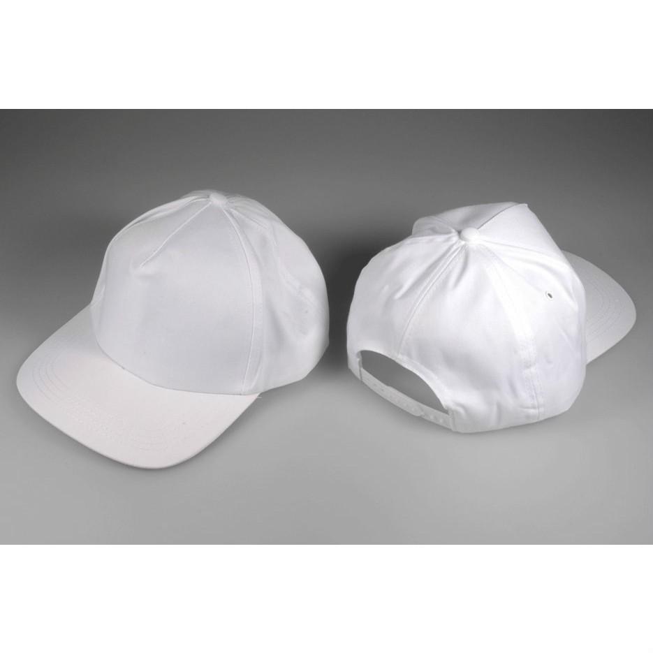 Baumwoll-Schirmmütze größenverstellbar - Baseball Mütze weiß zum Bemalen