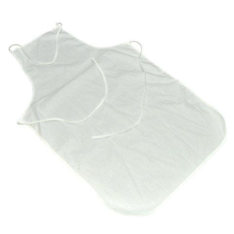 Malkittel Baumwolle, Schürze 60x90cm - weiß zum Bemalen mit Stoffmalfarbe – Bild 1