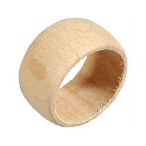 10 Serviettenringe Holz natur 22x45mm zum Bemalen, Basteln, Selbstdekorieren – Bild 2