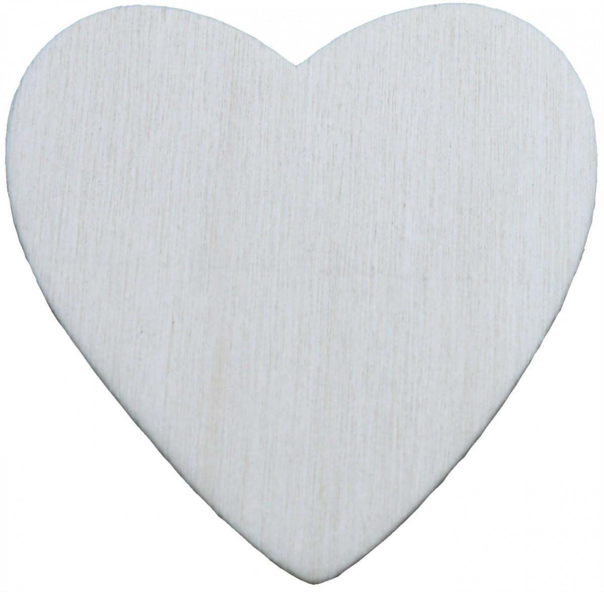 Holzherzen natur 30 Stück 4,2cm - zum Basteln, Bemalen, Streu-Deko, Tischdeko