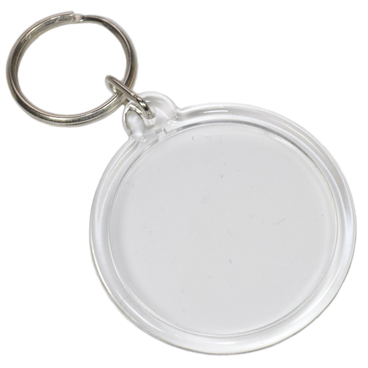 Foto Schlüsselanhänger Acryl rund - Rohling für Passfoto / Bild Ø 4,1cm