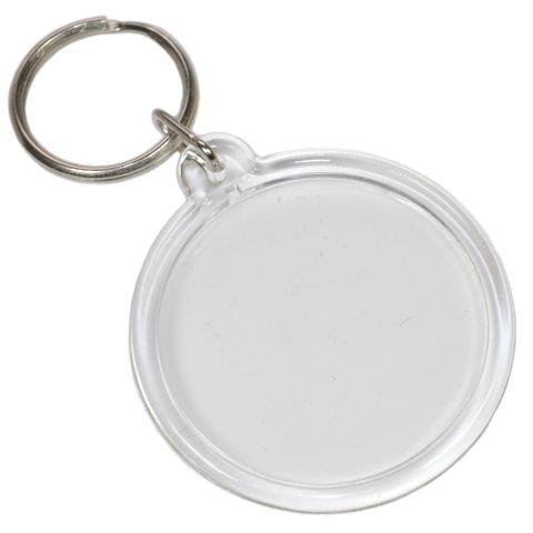 Foto Schlüsselanhänger Acryl rund - Rohling für Passfoto / Bild Ø 4,1cm – Bild 1