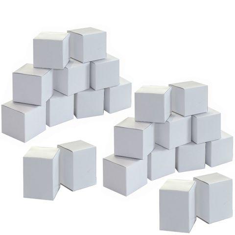 Adventskalender Rohling - 24 Boxen blanko weiß zum Bemalen und Befüllen