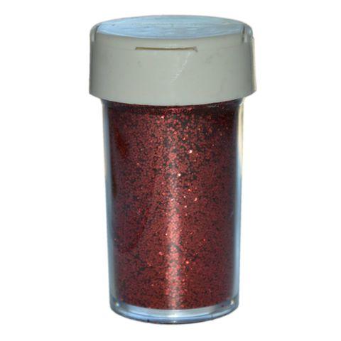 Deko-Glitter Rot 20g - Streu Glitzer / Glimmer zum Basteln – Bild 1