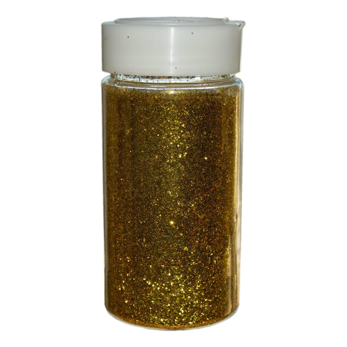 Glitter Gold Großpackung - 250g Streudose - Deko Glitzer/Glimmer zum Basteln