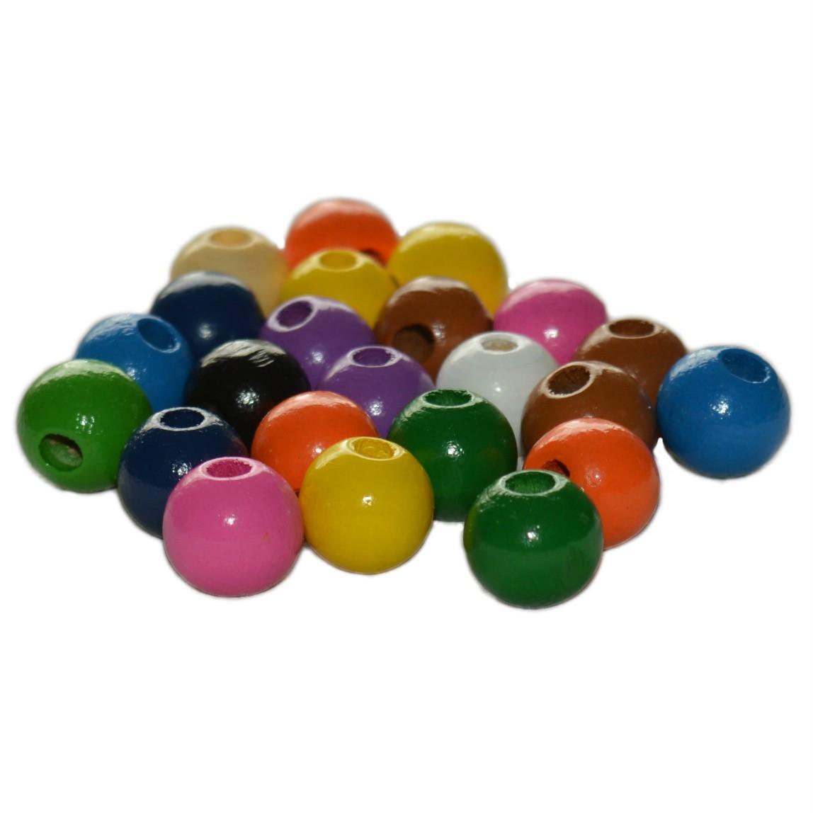 perles en bois color es enfiler diam 12mm lot de 80 env 50 gr. Black Bedroom Furniture Sets. Home Design Ideas