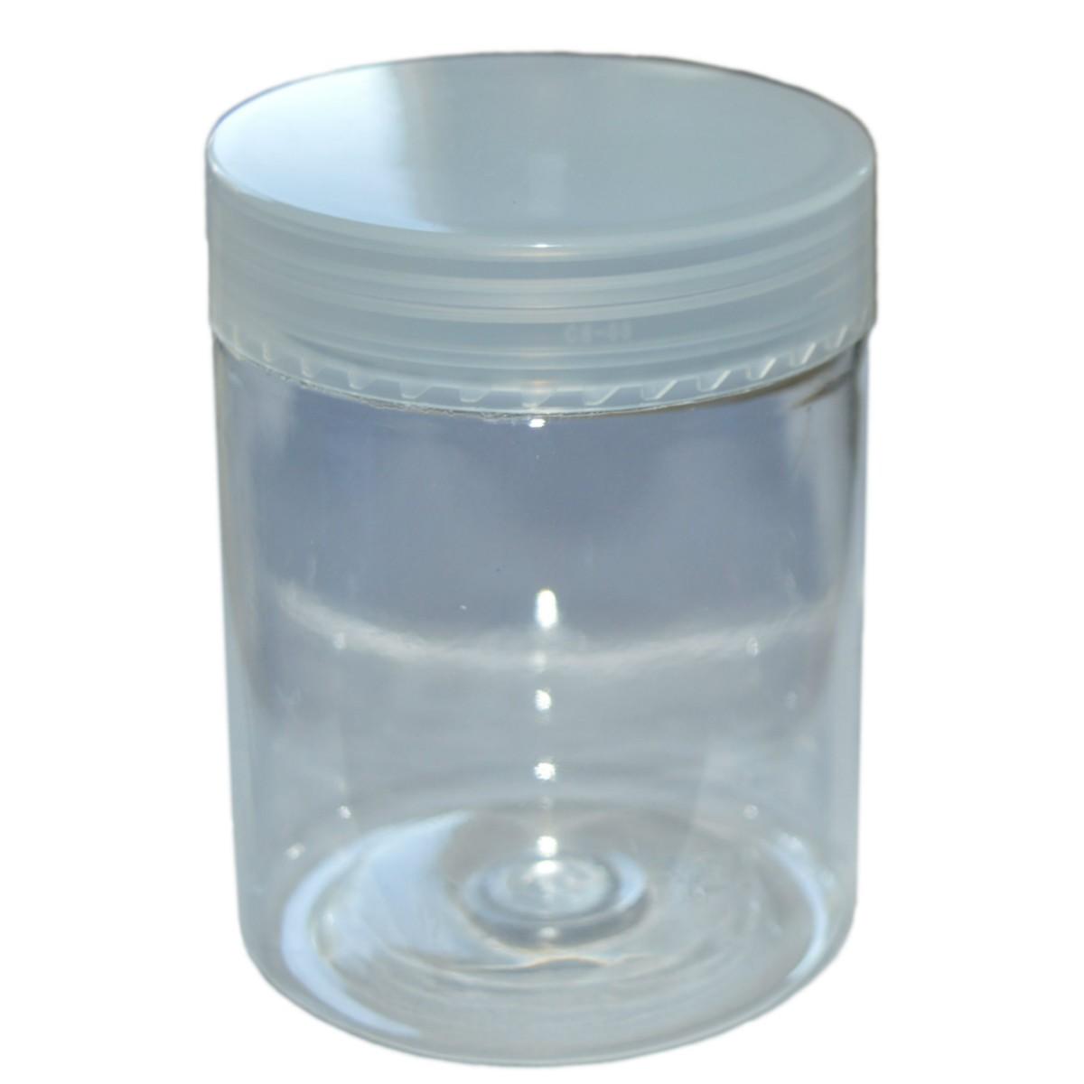 5 PET Dosen mit Deckel zu je 250ml - transparent, glasklar
