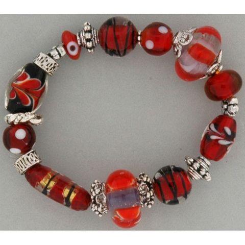 6 Perlenkappen antik-silber, Blüte 10mm - Metallperlen-Endkappen mit Großloch – Bild 2