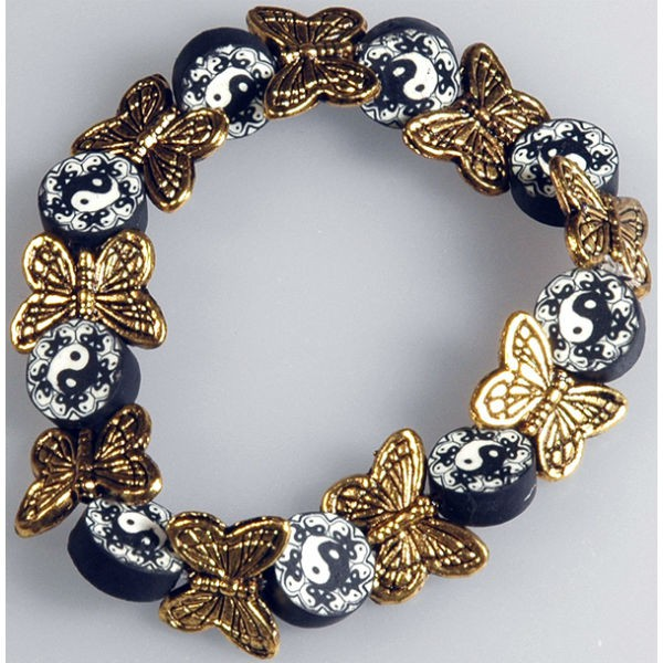 6 Metallperlen Schmetterling antik-gold 14x10mm