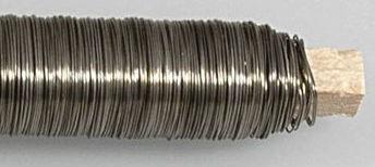 Wickeldraht blau geglüht 0,35mm - Basteldraht Blumendraht, Rolle mit 100g