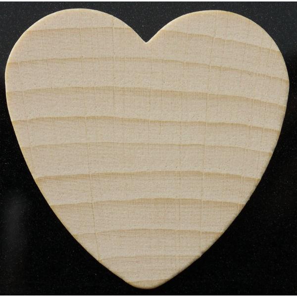Holzherzen natur 20 Stk 4,4cm - zum Basteln Beschriften Streudeko Tischdeko
