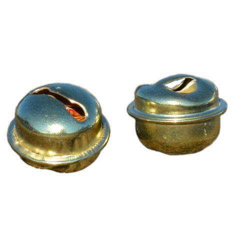 20 Schellen Glöckchen gold 15mm - Rollenglöckchen Metallglöckchen kugelförmig – Bild 1