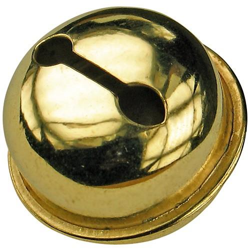 100 Schellen Glöckchen gold 25mm - Rollenglöckchen Metallglöckchen kugelförmig