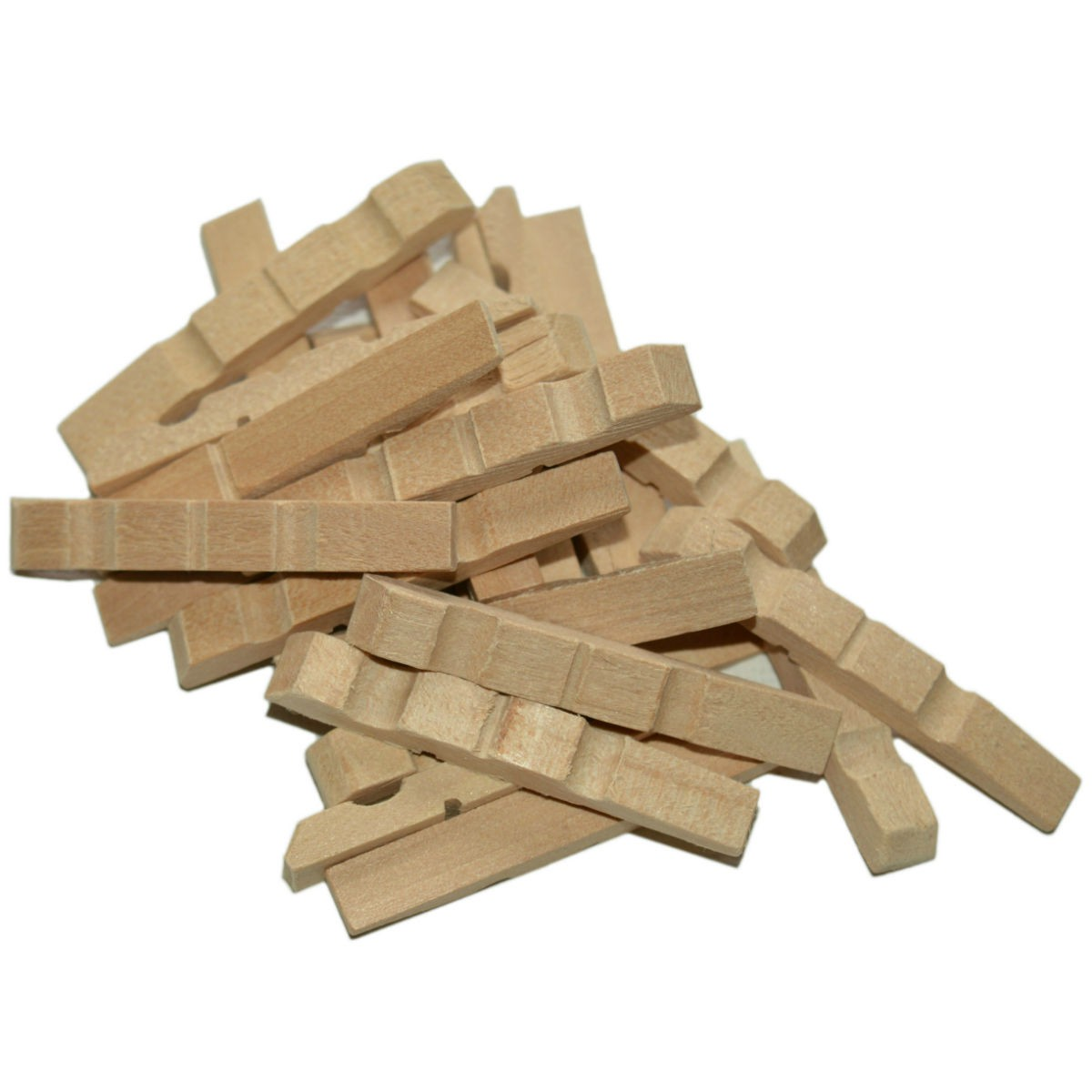 Halbe Wäscheklammern Holz 45mm 500 Stk - Wäscheklammern Hälften zum Basteln