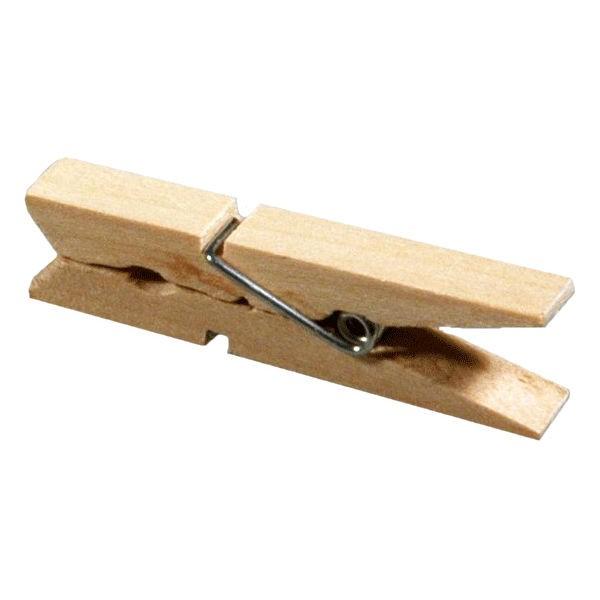 100 Mini-Wäscheklammern Holz - Bastelklammern 25x4mm
