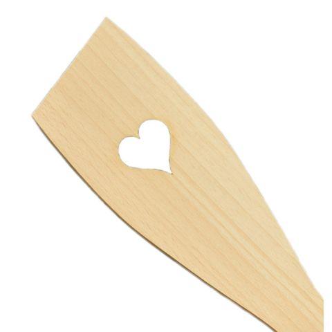 50x Pfannenwender mit Herz - Holz Kochlöffel zum Basteln & Bemalen – Bild 3